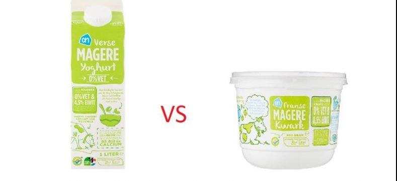 Verschil tussen kwark en yoghurt